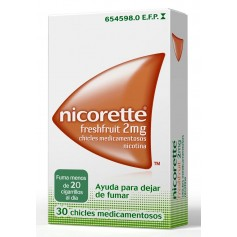 NICORETTE FRESHFRUIT 2 MG 30 CHICLES
