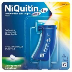 NIQUITIN MENTA 4 MG 20 COMPRIMIDOS