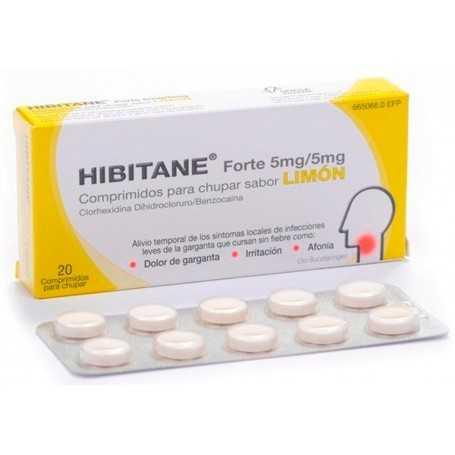 HIBITANE FORTE LIMON 5MG/5MG 20 COMPRIMIDOS - okfarma.es