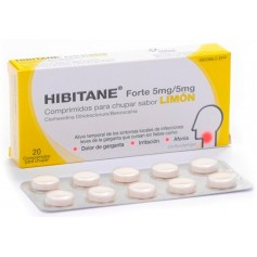 Hibitane Forte Limón 5Mg/5Mg 20 Comprimidos