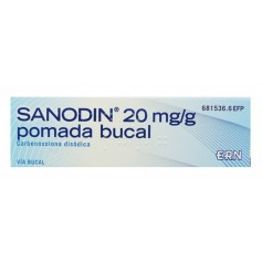 SANODIN 20 MG/G POMADA BUCAL 15 GR