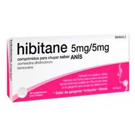 HIBITANE 5MG/5MG ANIS 20 COMPRIMIDOS