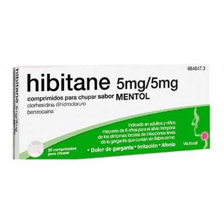 HIBITANE 5MG/5MG MENTOL 20 COMPRIMIDOS
