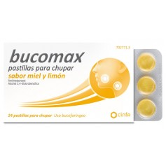 BUCOMAX MIEL-LIMON 24 PASTILLAS CHUPAR