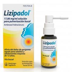 LIZIPADOL 17,86 MG/ML SOLUCION PULVERIZACION BUCAL 20 ML