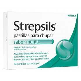 STREPSILS MENTA 24 PASTILLAS PARA CHUPAR