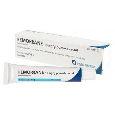 Hemorrane 10 MG/GR Pomada Rectal 30 GR