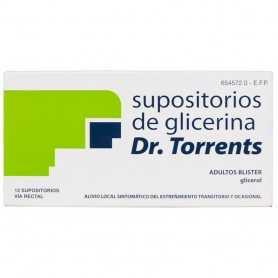 SUPOSITORIOS GLICERINA DR TORRENTS BLISTER 12 U