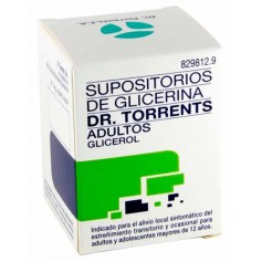 Supositorios Glicerina Dr Torrents Adultos 12 U