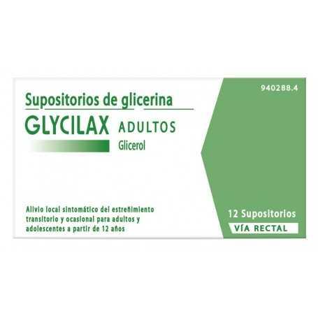GLYCILAX 12 SUPOSITORIOS ADULTOS
