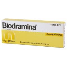 BIODRAMINA 4 COMPRIMIDOS