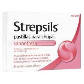 STREPSILS FRESA 24 PASTILLAS PARA CHUPAR