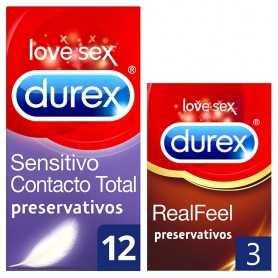 PACK DUREX CONTACTO TOTAL 12 U+REAL FEEL 3 U