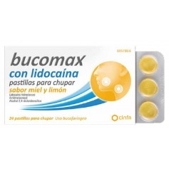 BUCOMAX MIEL LIMON LIDOCA 24 PAST CHUPAR