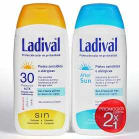 PACK LADIVAL PIELES SENSIBLES SPF30 200 ML+AFTERSUN 200 ML