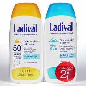 PACK LADIVAL PIELES SENSIBLES SPF50+ 200 ML+AFTERSUN 200 ML