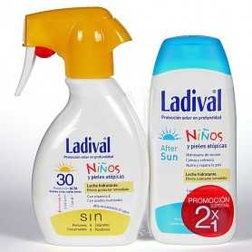 PACK LADIVAL NIÑOS LECHE SPRAY SPF30 200 ML+AFTERSUN 200 ML