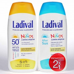 Pack Ladival Niños Leche SPF50 200 ML+Aftersun 200 ML