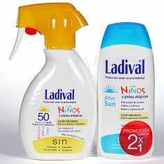 Pack Ladival Niños Leche Spray SPF50 200 ML+Aftersun 200 ML
