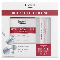 Pack Eucerin Hyaluron Crema Día 50 ML+Contorno Ojos 15 ML