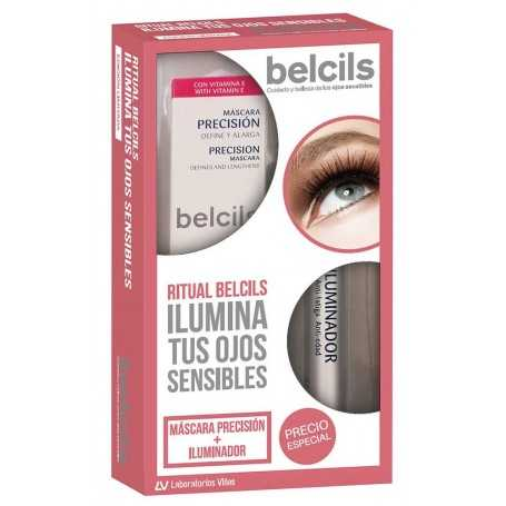 PACK BELCILS ILUMINADOR ANTIFATIGA 2,5 ML + MASCARA PRECISION 12 ML