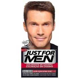 JUST FOR MEN COLORANTE EN CHAMPU CASTAÑO OSCURO H-35