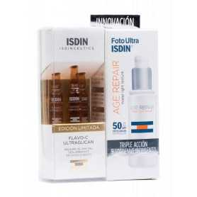Pack Isdin Foto Ultra Age Repair Water Light 50 ML + Isdinceutics Flavo-C Ultraglican 3 U