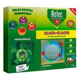 RELEC PULSERA CLICK-CLACK TORTUGA REPELENTE DE MOSQUITOS