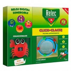 RELEC PULSERA CLICK-CLACK CANGREJO REPELENTE DE MOSQUITOS