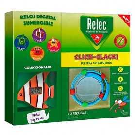 RELEC PULSERA CLICK-CLACK PEZ REPELENTE DE MOSQUITOS