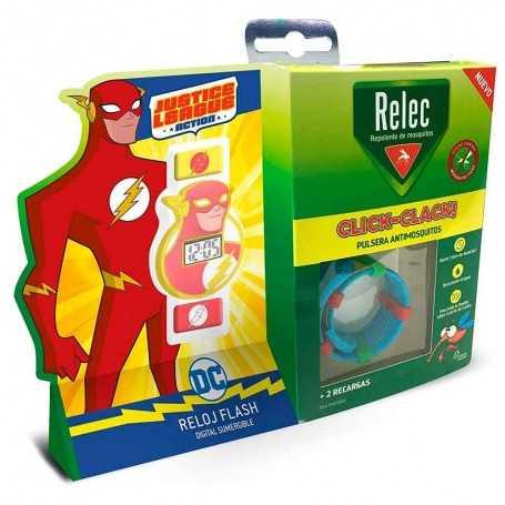 RELEC PULSERA ANTIMOSQUITOS CLICK-CLACK + REGALO RELOJ FLASH