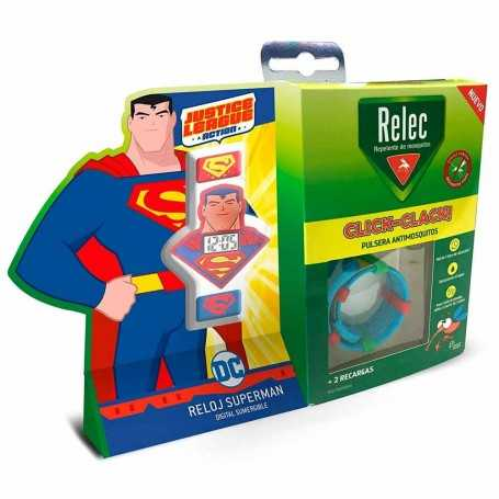 RELEC PULSERA ANTIMOSQUITOS CLICK-CLACK + REGALO RELOJ SUPERMAN