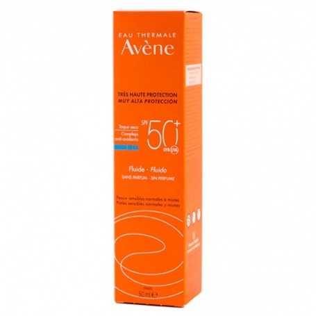 AVENE SOLAR FLUIDO SIN PERFUME SPF50+ 50 ML