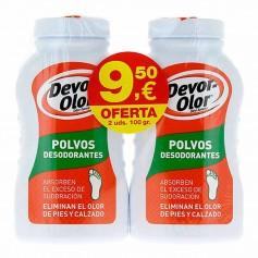Duplo Devor Olor Polvos Desodorantes 2X100 GR
