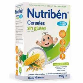 NUTRIBEN CEREALES SIN GLUTEN CON LECHE 300 GR