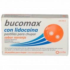 Bucomax Naranja Lidocaína 24 Pastillas Para Chupar
