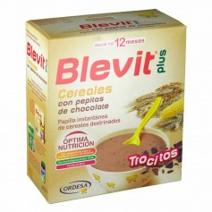 BLEVIT PLUS TROCITOS CEREALES Y PEPITAS CHOCOLATE 600 GR