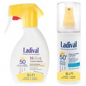 PACK LADIVAL SPF50 LECHE KIDS 200 ML + PIEL SENSIBLE 150 ML