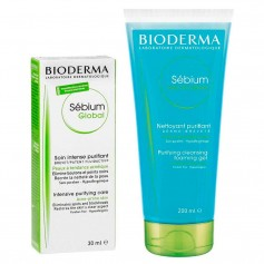 Pack Bioderma Sébium Gel Moussant 100 ML + Global 30 ML