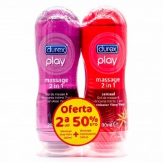 Pack Durex Play Massage Aloe Vera + Sensual 2x200 ML