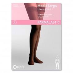 Farmalastic Media Larga Compresión Ligera Blonda Negra Extra Grande