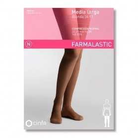 Farmalastic Media Larga Compresión Normal Blonda Negra Mediana