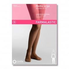 Farmalastic Media Larga Compresión Normal Blonda Negra Mediana 1 U
