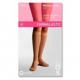 Farmalastic Media Corta Compresión Normal Beige Pequeña