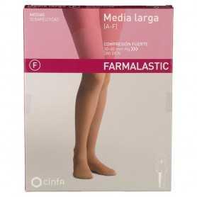 Farmalastic Media Larga Compresión Fuerte Beige Grande