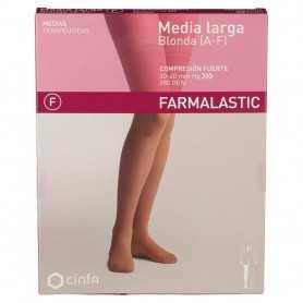 Farmalastic Media Larga Compresión Fuerte Blonda Beige Mediana
