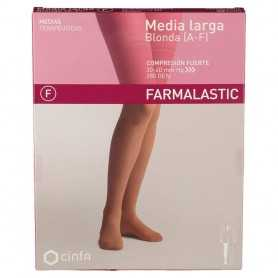 Farmalastic Media Larga Compresión Fuerte Blonda Beige Extra Grande