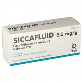 Siccafluid 2,5 MG/GR Gel Oftálmico 60 Unidosis