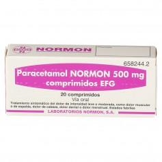 Paracetamol Normon 500 MG 20 comprimidos