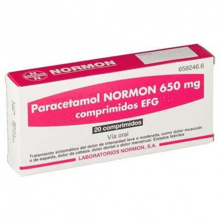 Paracetamol Normon 650 MG 20 comprimidos